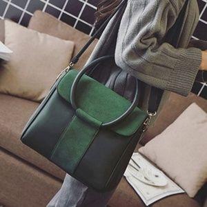 Handbags - Green with Envy Crossed Strap Bag.
